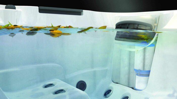 j 400 hot tub filter underwater leaves - Red Rock Spas